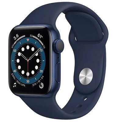 Смарт-часы Apple Watch S6 40mm Blue Aluminum Case with Deep Navy Sport Band (MG143RU/A)