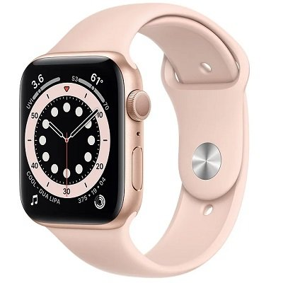 Смарт-часы Apple Watch S6 44mm Gold Aluminum Case with Pink Sand Sport Band (M00E3RU/A)