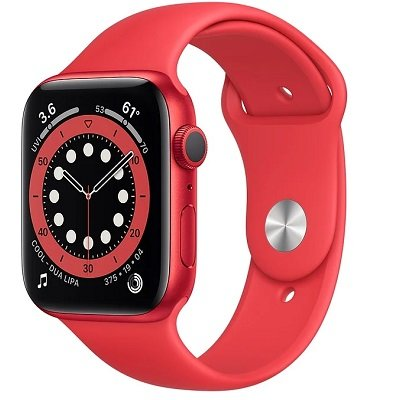 Смарт-часы Apple Watch S6 44mm PRODUCT(RED) Aluminum Case with PRODUCT(RED) Sport Band (M00M3RU/A)