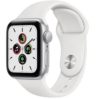 Смарт-часы Apple Watch SE 40mm Silver Aluminum Case with White Sport Band (MYDM2RU/A)