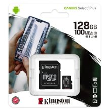 Карта памяти Kingston Canvas Select Plus microSDHC 128 ГБ [SDCS2/128GB]