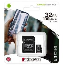 Карта памяти Kingston Canvas Select Plus microSDHC 32 ГБ [SDCS2/32GB]